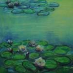 """Seerosen nach Monet"" 2011   Rieck Sonja"