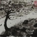 STURM 1, 2013, Tusche auf Japanpapier, 30*22cm