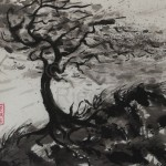 STURM 4, 2013, Tusche auf Japanpapier, 30*22cm