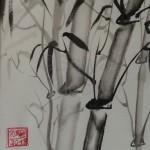 BAMBUS 1, 2013, Tusche auf Japanpapier, 30*22cm