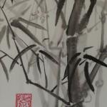 BAMBUS 2, 2013, Tusche auf Japanpapier, 30*22cm