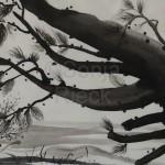 AM ENDE DES WEGES, 2013, Tusche auf Japanpapier, 30*22cm