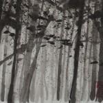 WALD 1, 2013, Tusche auf Japanpapier, 30*22cm