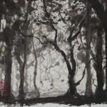 WALD 2, 2013, Tusche auf Japanpapier, 30*22cm