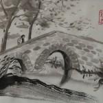 AUF DEM WEG, 2013, Tusche auf Japanpapier, 30*22cm