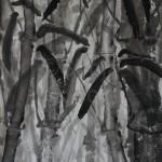 BAMBUS 3, 2013, Tusche auf Japanpapier, 30*22cm