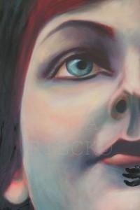 Frau aus Rot (in Arbeit) 2016/17 Acryl und Öl auf Leinwand 140x100 cm